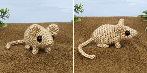 Mini Mammals crochet pattern by PlanetJune - Mouse