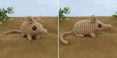 Mini Mammals crochet pattern by PlanetJune - Sengi
