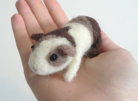 needlefelted guinea pig