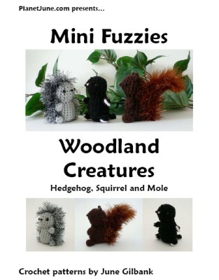 Mini Fuzzies Woodland Creatures crochet pattern by June Gilbank