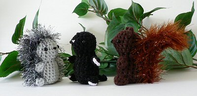 mini fuzzies crocheted woodland creatures