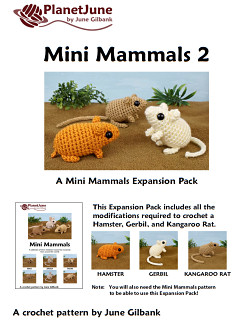 Mini Mammals 2 crochet pattern by PlanetJune