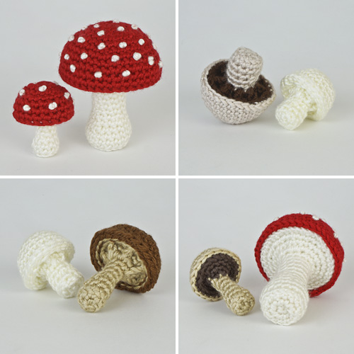 Mushroom Variations Expansion Pack crochet pattern by PlanetJune