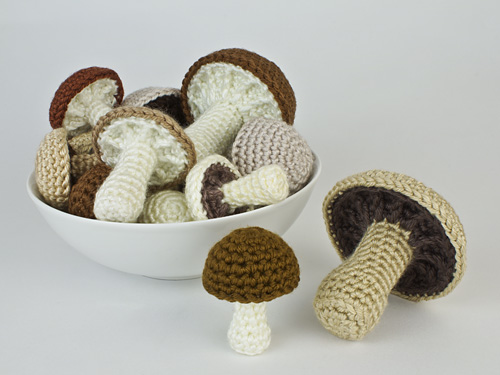 Mushroom Collection crochet pattern by PlanetJune