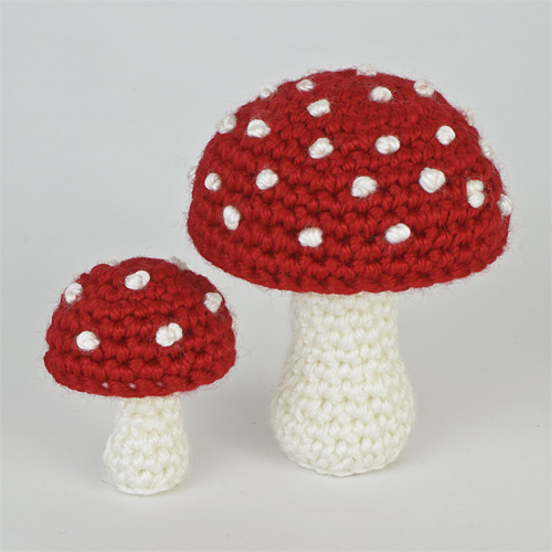 Red and White - Mushroom Variations Expansion Pack crochet pattern by PlanetJune