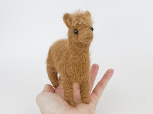 needlefelted alpaca by planetjune