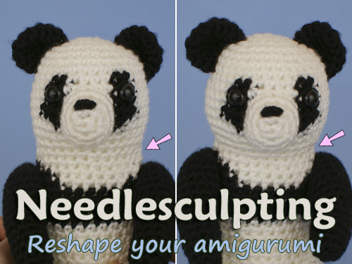 Tutorial - Needle Sculpting an Amigurumi Doll Face | Stitches n Scraps | 375x500