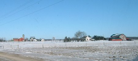 ontario farmland in the snow