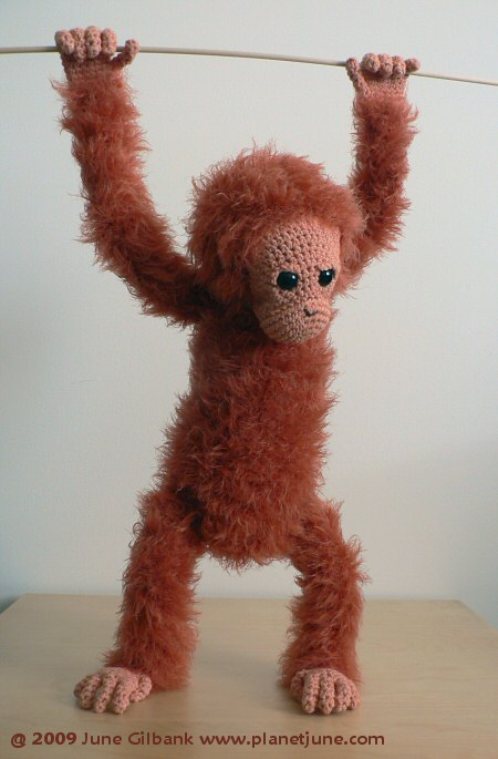 crocheted orang utan by planetjune