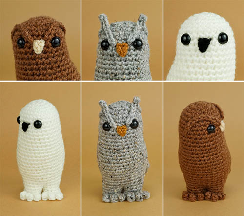 Owl Collection crochet pattern by PlanetJune