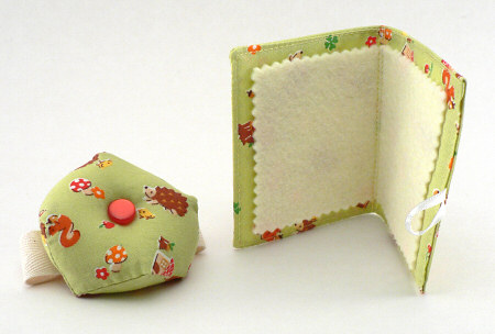 pincushion and needlebook by planetjune