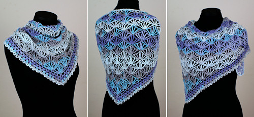 Palm Leaves Triangular Shawl, a PlanetJune Accessories crochet pattern by June Gilbank