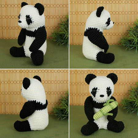 Louis the Panda amigurumi pattern - Amigurumipatterns.net | 450x450