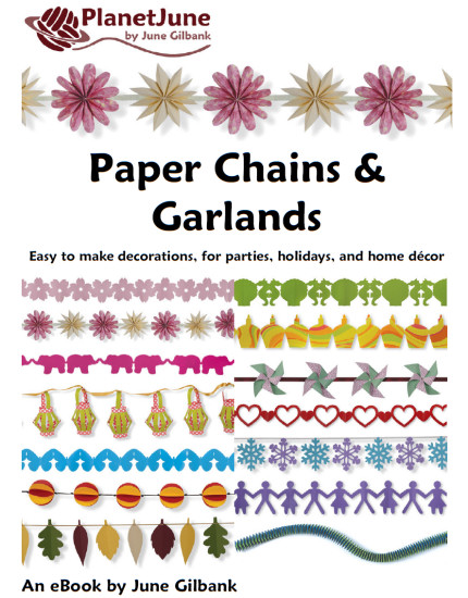 Paper Chains and Garlands cover, papercraft ebook by June Gilbank