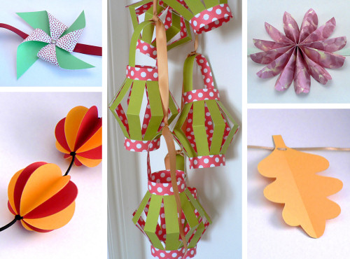 Paper Chains and Garlands projects, papercraft ebook by June Gilbank