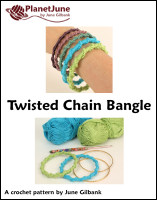 twisted chain bangle crochet pattern