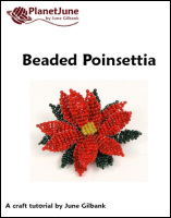 beaded poinsettia tutorial