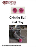 crinkle ball cat toy tutorial