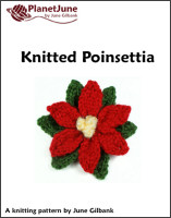 knitted poinsettia pattern