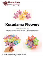 kusudama flowers papercraft tutorial