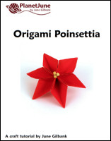 origami poinsettia tutorial