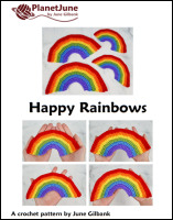 happy rainbows crochet pattern