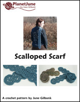 scalloped scarf crochet pattern