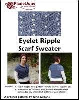 eyelet ripple scarf sweater crochet pattern