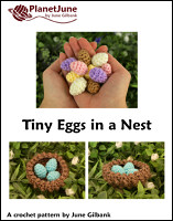 tiny eggs in a nest crochet pattern