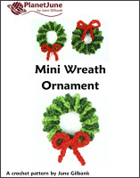 mini wreath ornament crochet pattern