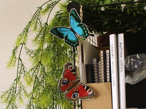punchneedle butterfly: peacock by planetjune