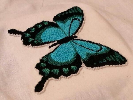 punchneedle butterfly wip