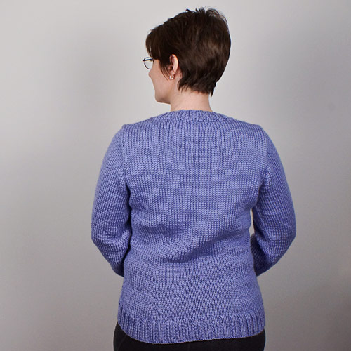 machine/hand knitted periwinkle sweater by planetjune