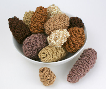pine cone collection crochet pattern by planetjune