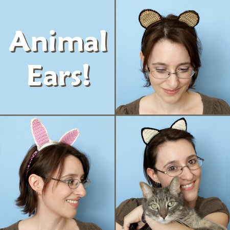PlanetJune Accessories Animal Ears crochet pattern