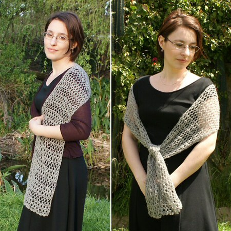 PlanetJune Accessories Banded Lace Wrap crochet pattern