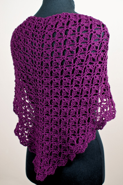 Cascading Clusters Shawl crochet pattern by June Gilbank