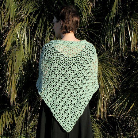 PlanetJune Accessories Climbing Eyelets Triangular Shawl crochet pattern