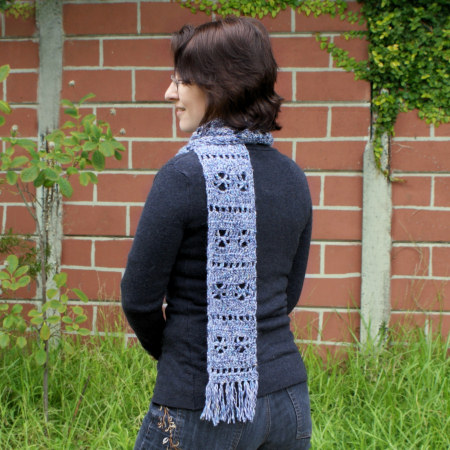 frosty windows scarf crochet pattern by planetjune