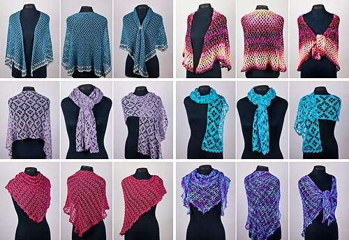 PlanetJune Accessories 2018 Shawl crochet pattern collection