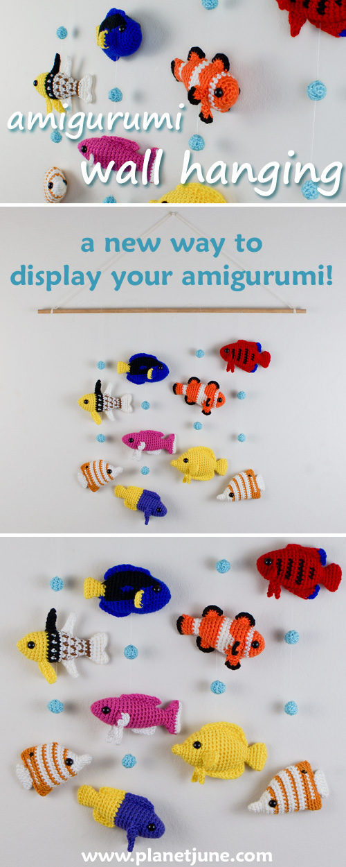 make an amigurumi wall hanging with this PlanetJune tutorial