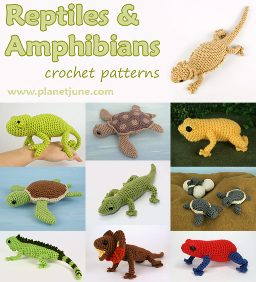 Reptiles and Amphibians crochet patterns by PlanetJune