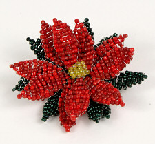 beaded poinsettia by planetjune
