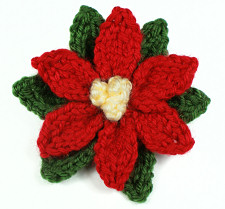 knitted poinsettia by planetjune