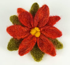 needlefelted poinsettia by planetjune