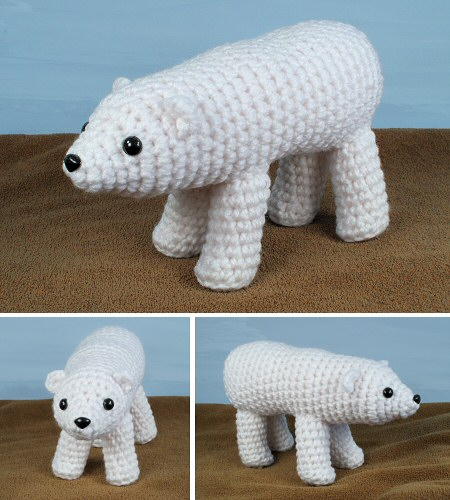 polar bear amigurumi crochet pattern (new and improved!) by planetjune
