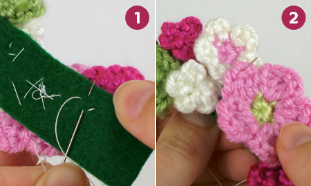 crocheted embellishments tutorial