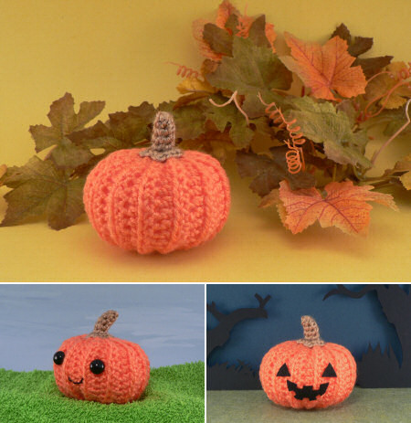 crocheted pumpkins by planetjune