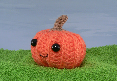 cute crocheted pumpkin by planetjune