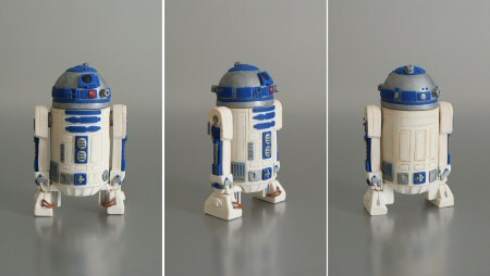polymer clay R2-D2 by planetjune